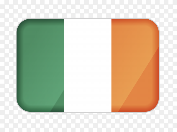 Ireland flag icon on transparent background PNG