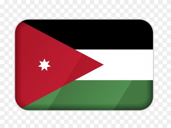 Jordan flag icon on transparent background PNG