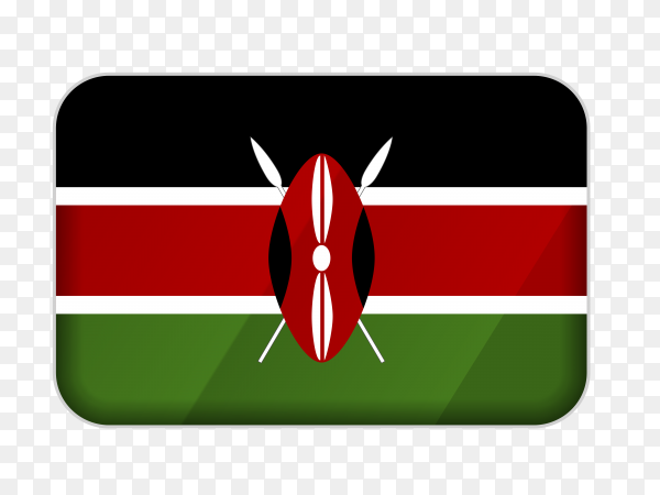 Kenya flag icon on transparent background PNG
