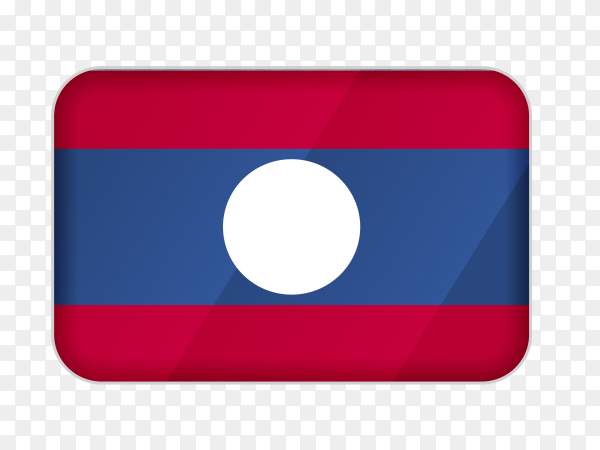 Laos flag icon on transparent background PNG