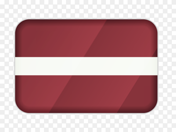 Latvia flag icon on transparent background PNG