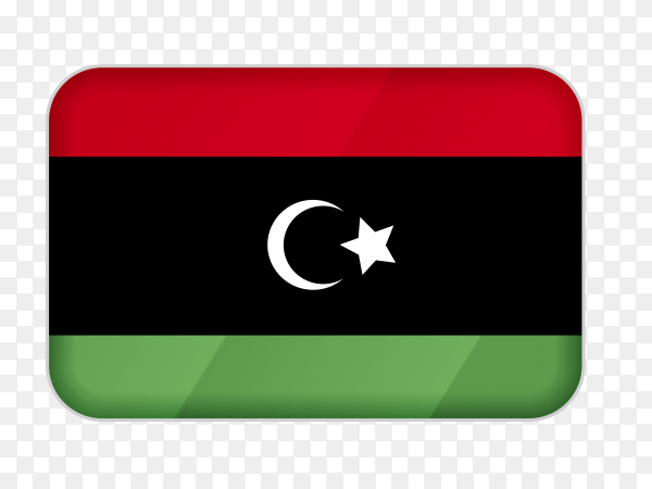 Libya flag icon on transparent background PNG