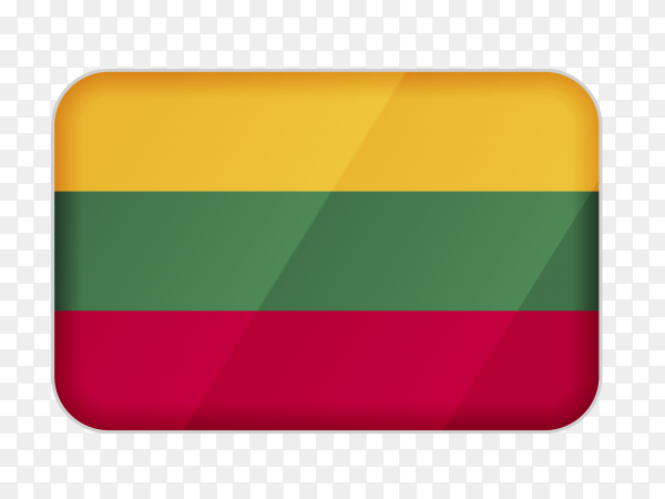 Lithuania flag icon on transparent background PNG