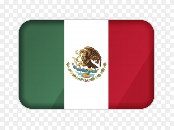 Mexico flag icon on transparent background PNG