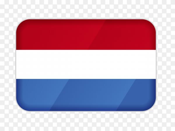 Netherlands flag icon on transparent background PNG
