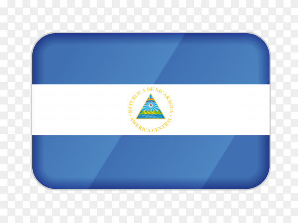 Nicaragua flag icon on transparent background PNG