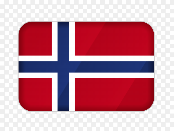 Norway flag icon on transparent background PNG