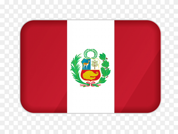Peru flag icon on transparent background PNG