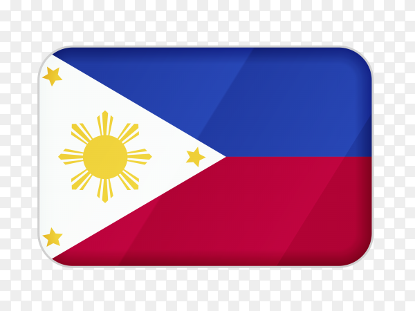 Philippines flag icon on transparent background PNG