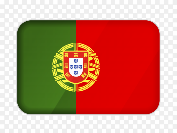 Portugal flag icon on transparent background PNG