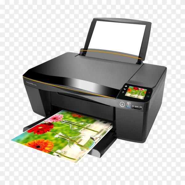 Printer on transparent background PNG