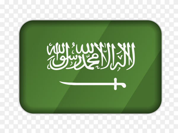 Saudi Arabia flag icon on transparent background PNG