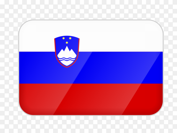 Slovenia flag icon on transparent background PNG