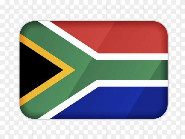 South Africa flag icon on transparent background PNG