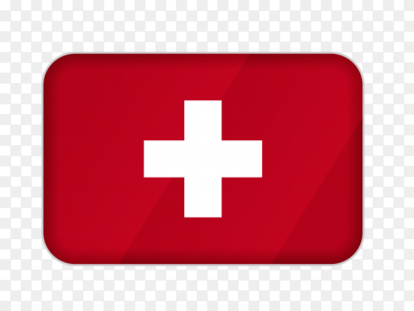 Switzerland flag icon on transparent background PNG