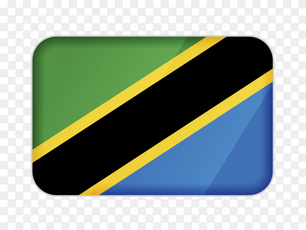 Tanzania flag icon on transparent background PNG