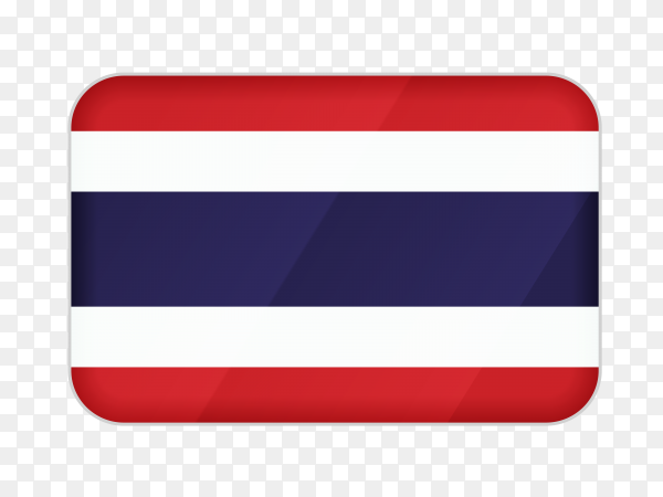 Thailand flag icon on transparent background PNG