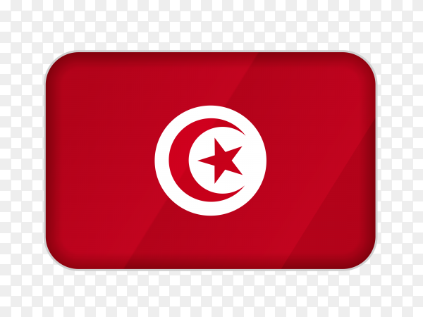 Tunisia flag icon on transparent background PNG