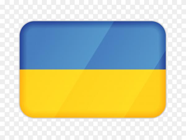 Ukraine flag icon on transparent background PNG