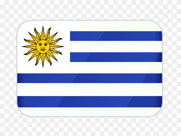 Uruguay flag icon on transparent background PNG