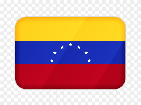 Venezuela flag icon on transparent background PNG