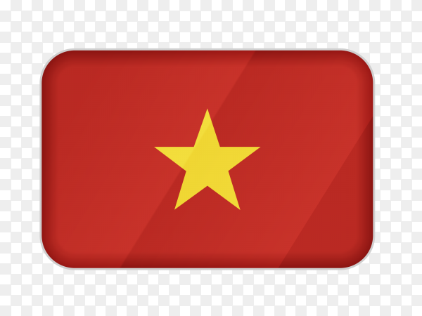 Vietnam flag icon on transparent background PNG