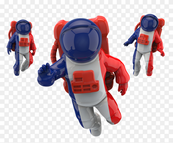 American astronauts on space vector PNG