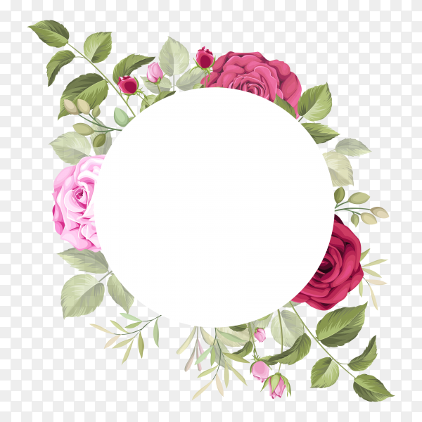 Beautiful wedding card with floral leaves Clipart PNG