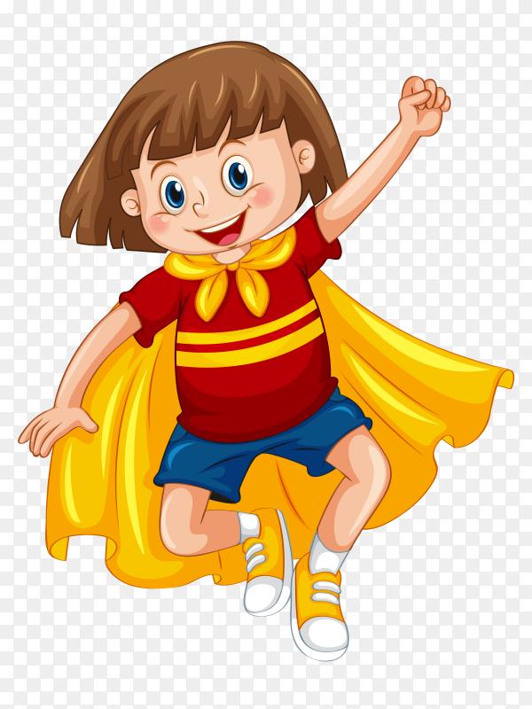 Boy wearing superhero vector PNG
