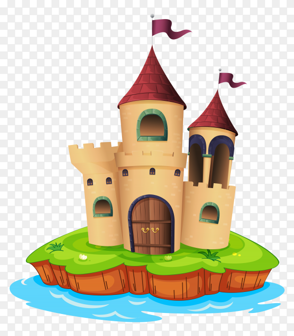 Castle and Water on Transparent-PNG