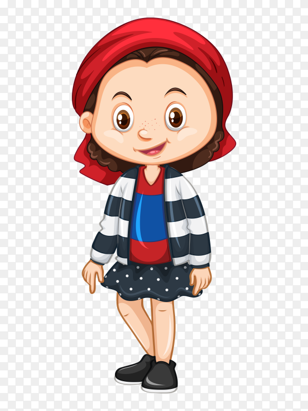 Cute happy smiling child isolated white Clipart PNG