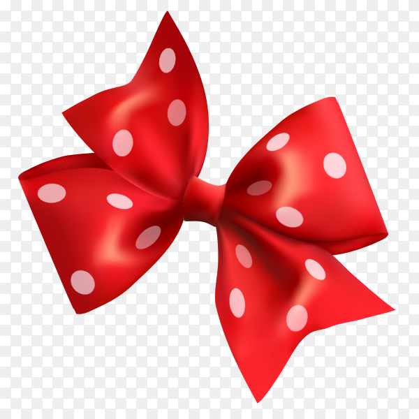 Cute red bow vector PNG