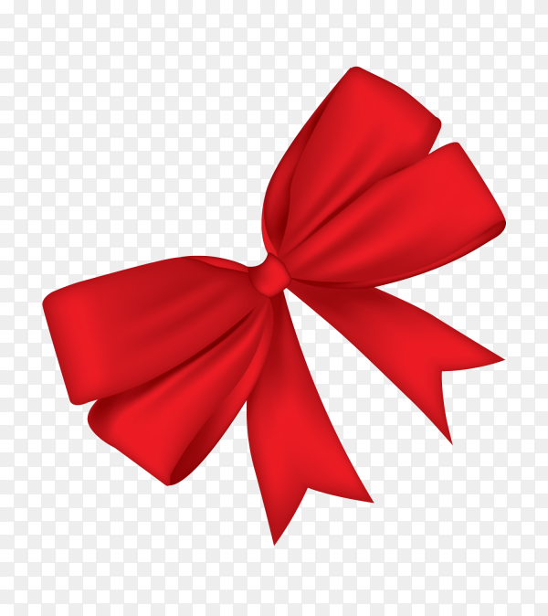 Decorative red bow vector PNG