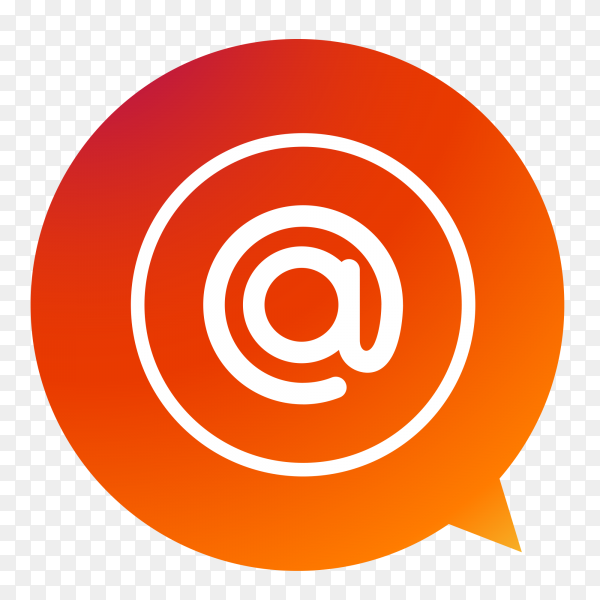 At Email symbol on transparent background PNG