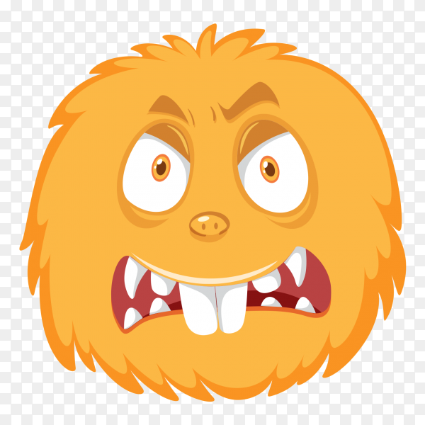 Fear monster face clipart PNG