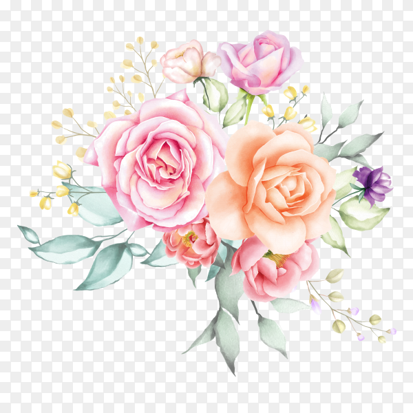 Floral design wedding invitation Clipart PNG