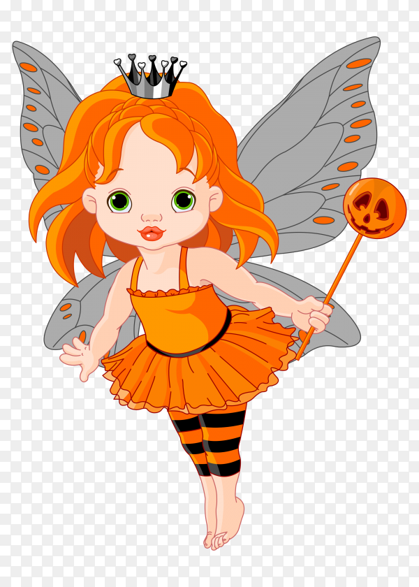 Flying butterfly fairy Preumire vector PNG