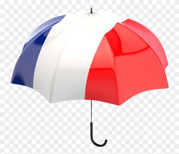 France flag shaped on an umbrella on transparent PNG
