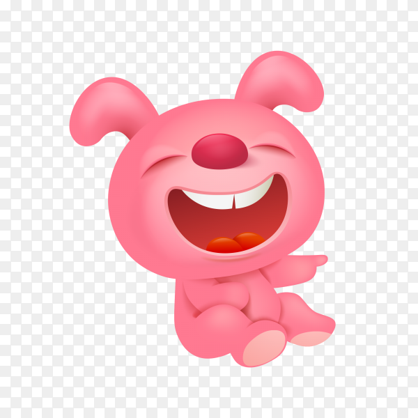 Funny cartoon toy animals on transparent background PNG