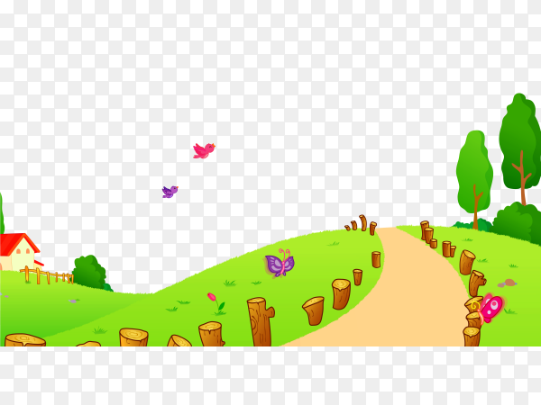 Grass and Way on transparent background PNG