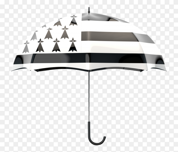 Grey american flag shaped on an umbrella on transparent PNG