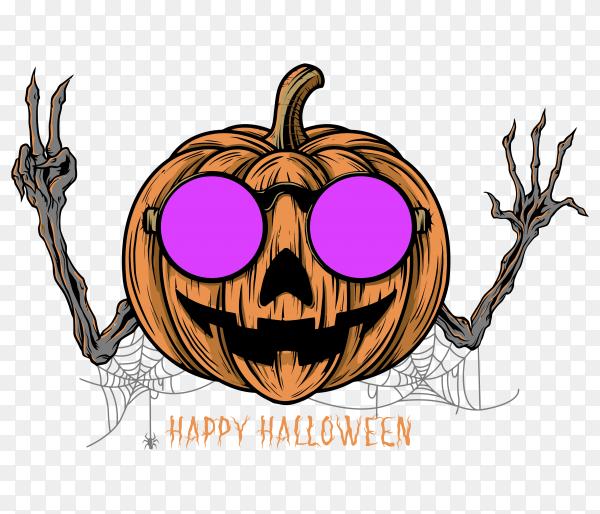 Halloween pumpkin Premuim vector PNG