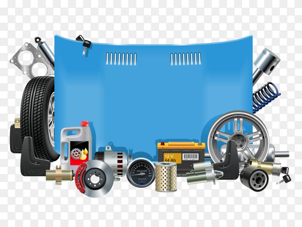 Vector Art - Car parts icon set, flat style. Clipart Drawing gg101888861 -  GoGraph