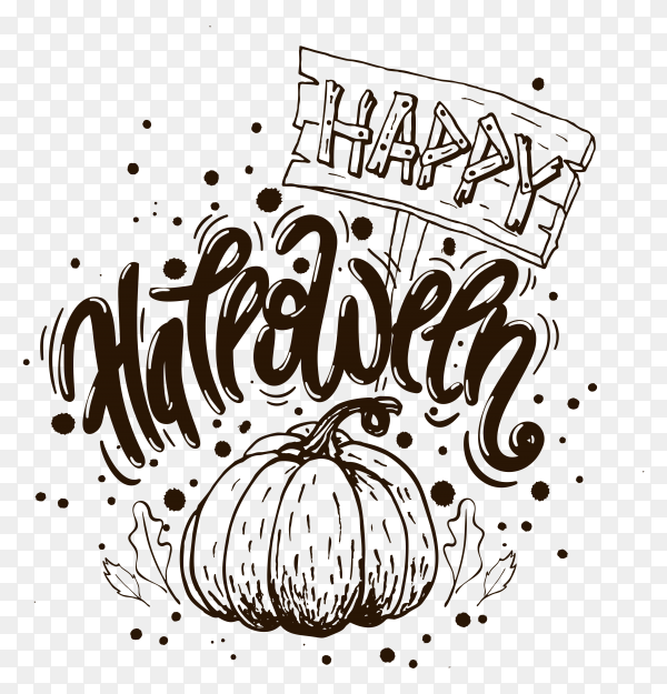Happy Halloween vector PNG