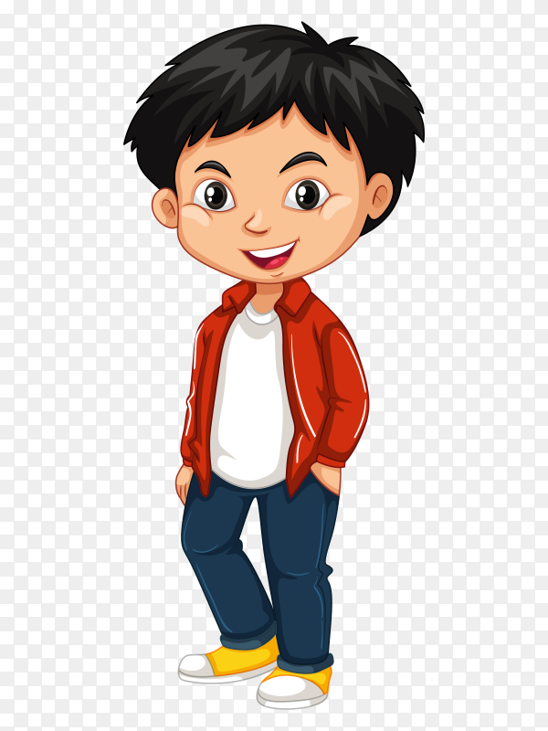 Happy Boy Cartoon On Transparent Background Png Similar Png