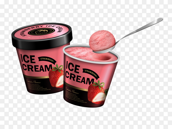 Ice cream on transparent background PNG