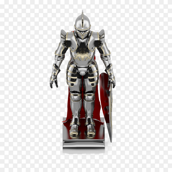Knight statue 3D isolated Clipart PNG