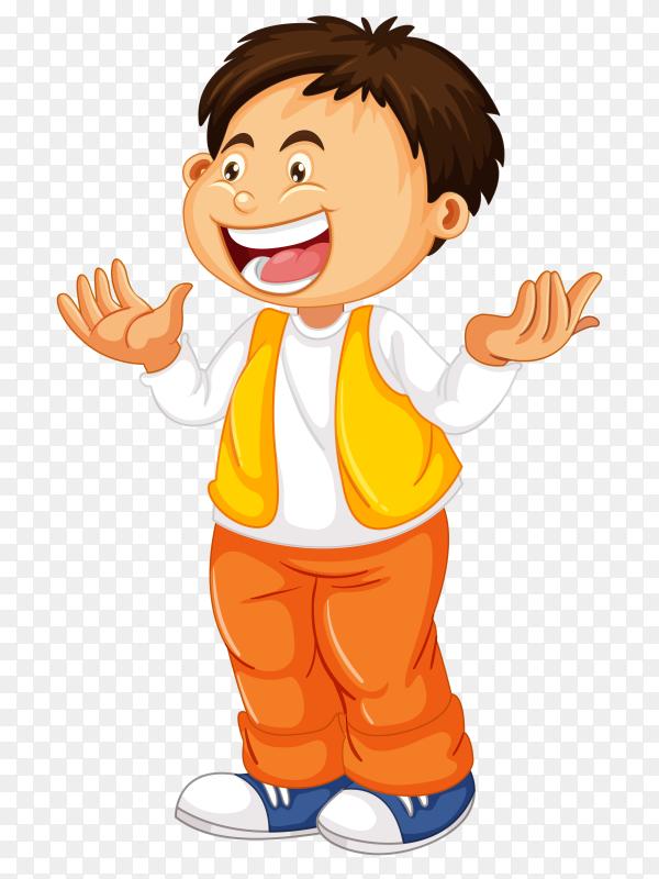 Laugh boy on transparent background PNG