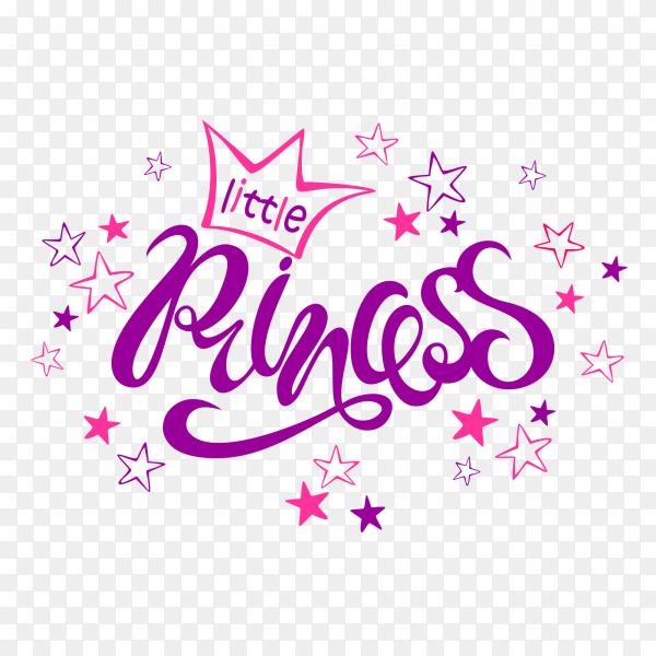 Little princess words on transparent background PNG