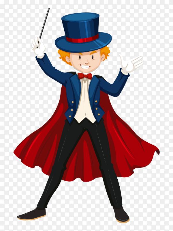 Magician cartoon character vector PNG